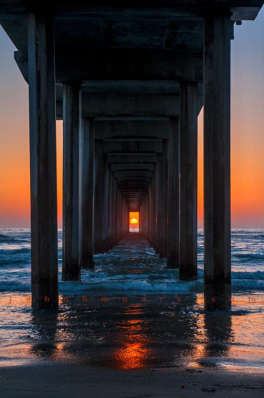 Scripps Pier Sunset Alignmnet