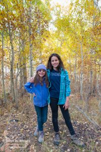 My younger daughters enjoy a walk in the woods near Bishop Creek.